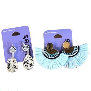Claire's Drops Earrings set of 2